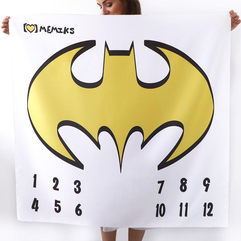 """Фотофон-пеленка для детских фотосессий по месяцам """"Batman"""""""