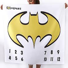 """Фотофон-пелюшка для дитячих фотосесій по місяцях """"Batman"""""""
