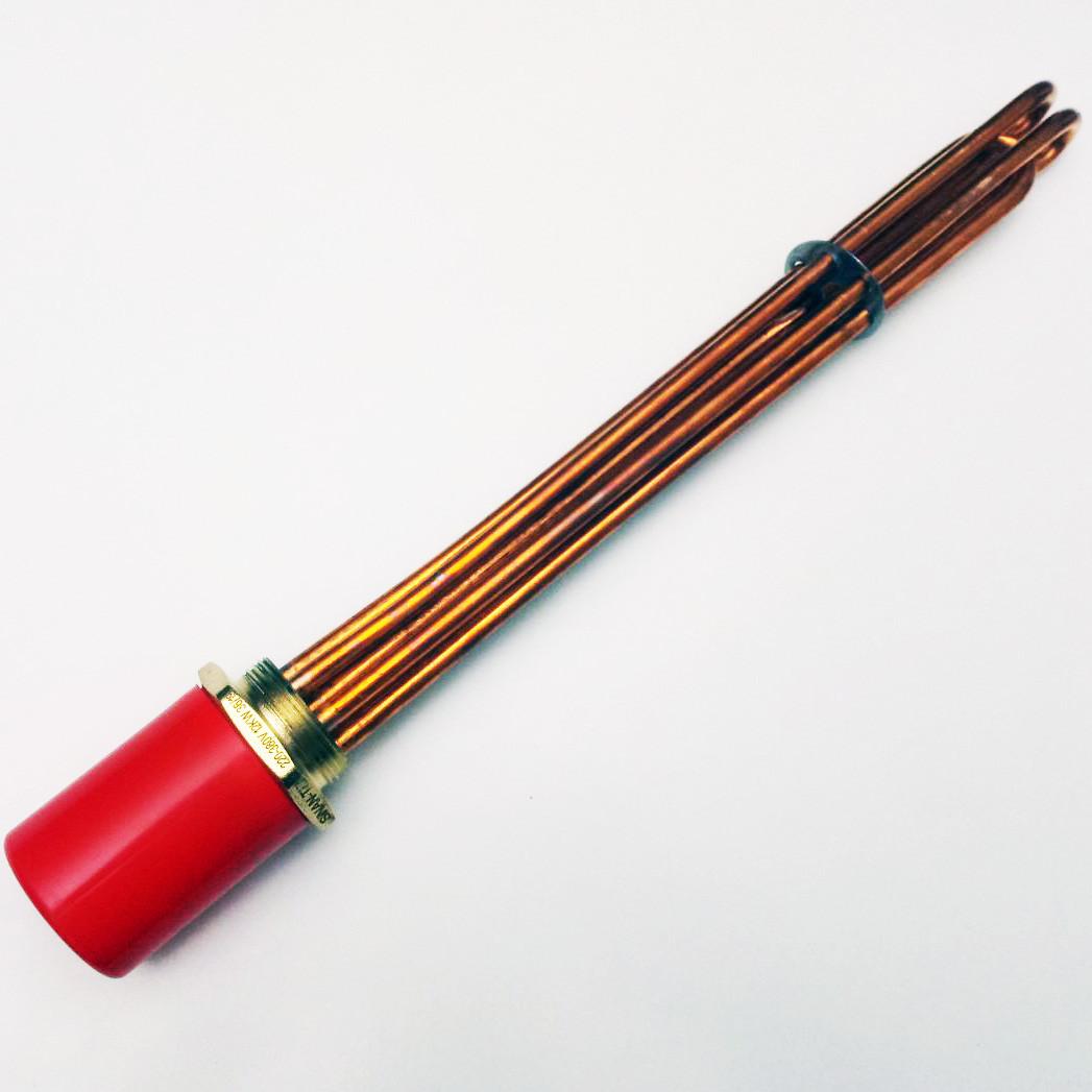 Блок тэн медный 12,0квт 1,5 дюйма  220/380В (наружная резьба 47мм) для котла отопления
