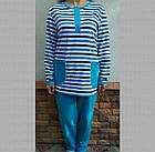 Пижама женская теплая с пуговицами футер Украина р92 20036850, фото 2