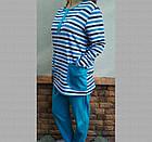 Пижама женская теплая с пуговицами футер Украина р92 20036850, фото 3