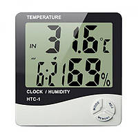 Цифровой Термогигрометр Thermo Htc-1 Часы Будильник Метеостанция