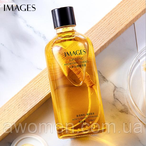 Уцінка! Омолоджуюча сироватка Images Ginseng з коренем женьшеню 100 ml (пом'ята коробка)