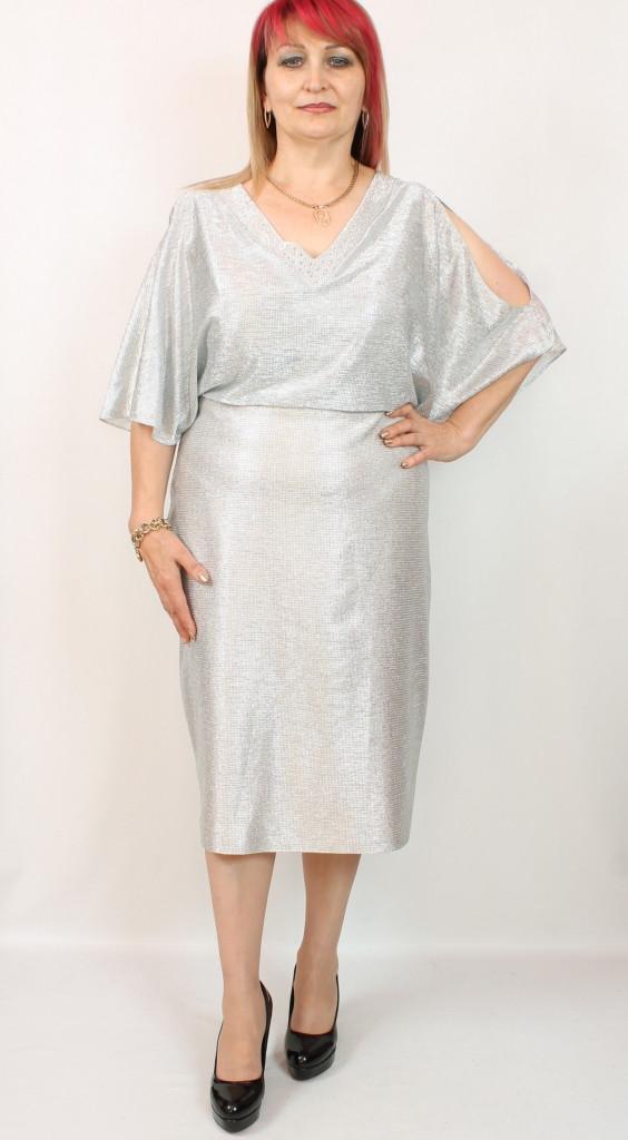 Турецкое блестящее женское платье больших размеров 58-64
