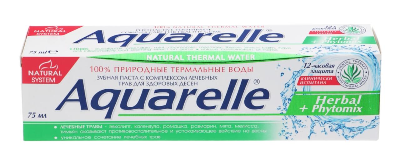 Зубна паста Aquarelle 75г Herbal+Phytomix