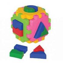 Куб Розумний малюк Логіка 1 (24 ш/к) 12* 12* 12 см  Технок