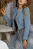 Шубка Анита голуба, фото 1