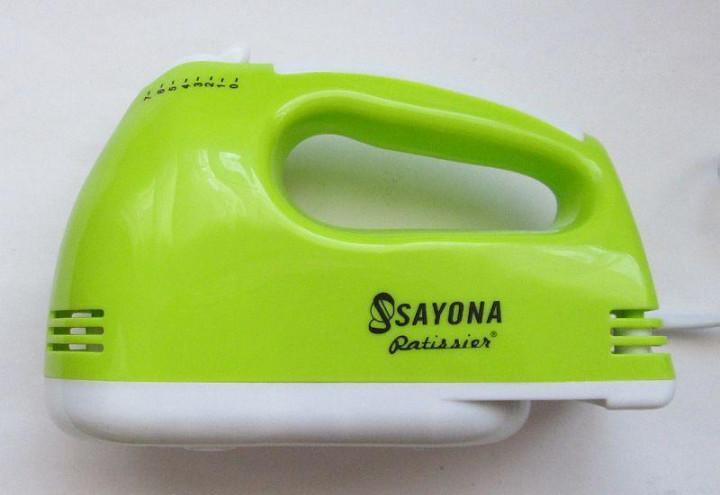 Миксер Sayona Szj-Lh133 7 Скоростей 300 Вт Салатовый Ручной Миксер