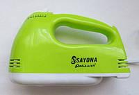 Миксер Sayona Szj-Lh133 7 Скоростей 300 Вт Салатовый Ручной Миксер, фото 1