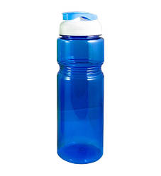 Фляга велосипедна пластикова прозора Синя 700 мл