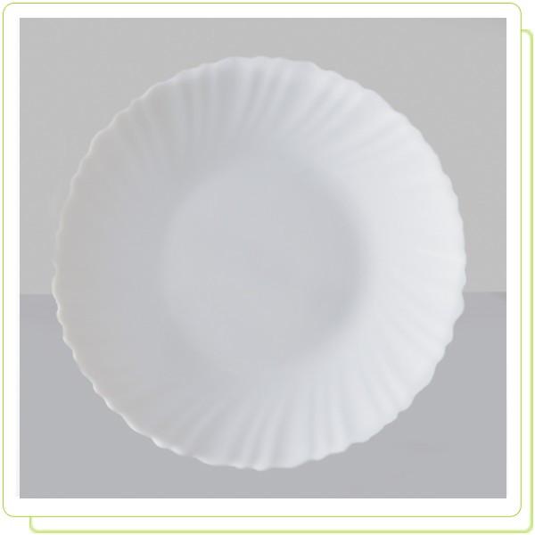 Тарелка из жаропрочного стекла белая  17,5см White (только по 6 штук)