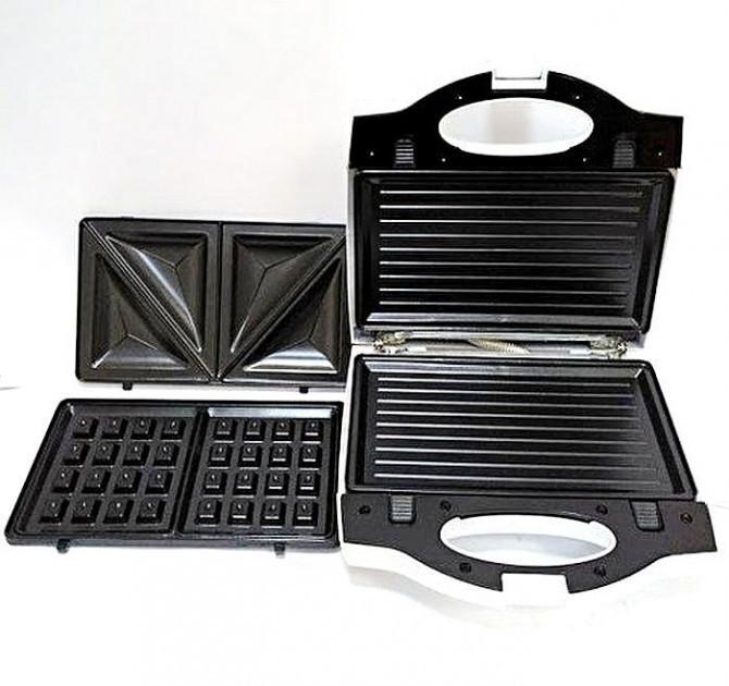 Мультимейкер Wimpex Wx-1057 3 В 1 Гриль Сендвичница Вафельница Wimpex 1057 Бутербродница 3 В 1