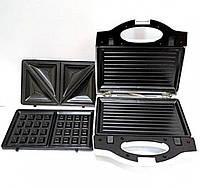 Мультимейкер Wimpex Wx-1057 3 В 1 Гриль Сендвичница Вафельница Wimpex 1057 Бутербродница 3 В 1, фото 1