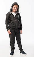 Детский спортивный костюм для мальчика темно-серый 128р.