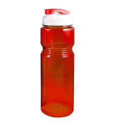 Фляга велосипедная пластиковая прозрачная Красная 700 мл