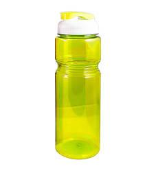 Фляга велосипедна пластикова прозора Жовта 700 мл