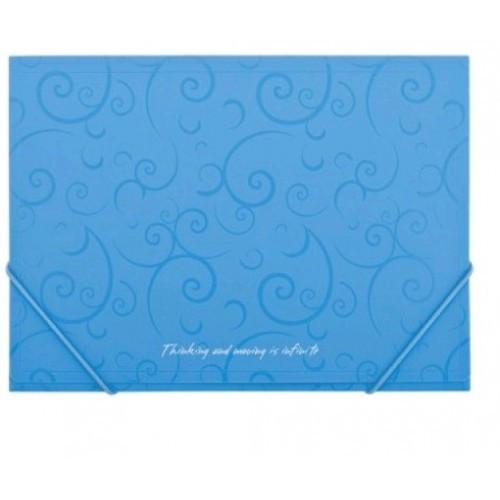Папка на резинках А4 BUROMAX 3914-14 пластиковая Barocco голубая (1)