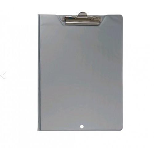 Клипборд-папка А4 BUROMAX 3415-09 ПВХ серый (1/30)