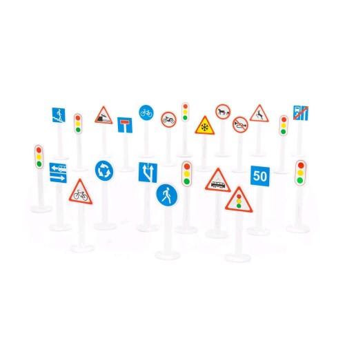 Набор дорожных знаков №3 (24 элементов) (в пакете) ТМ POLESIE