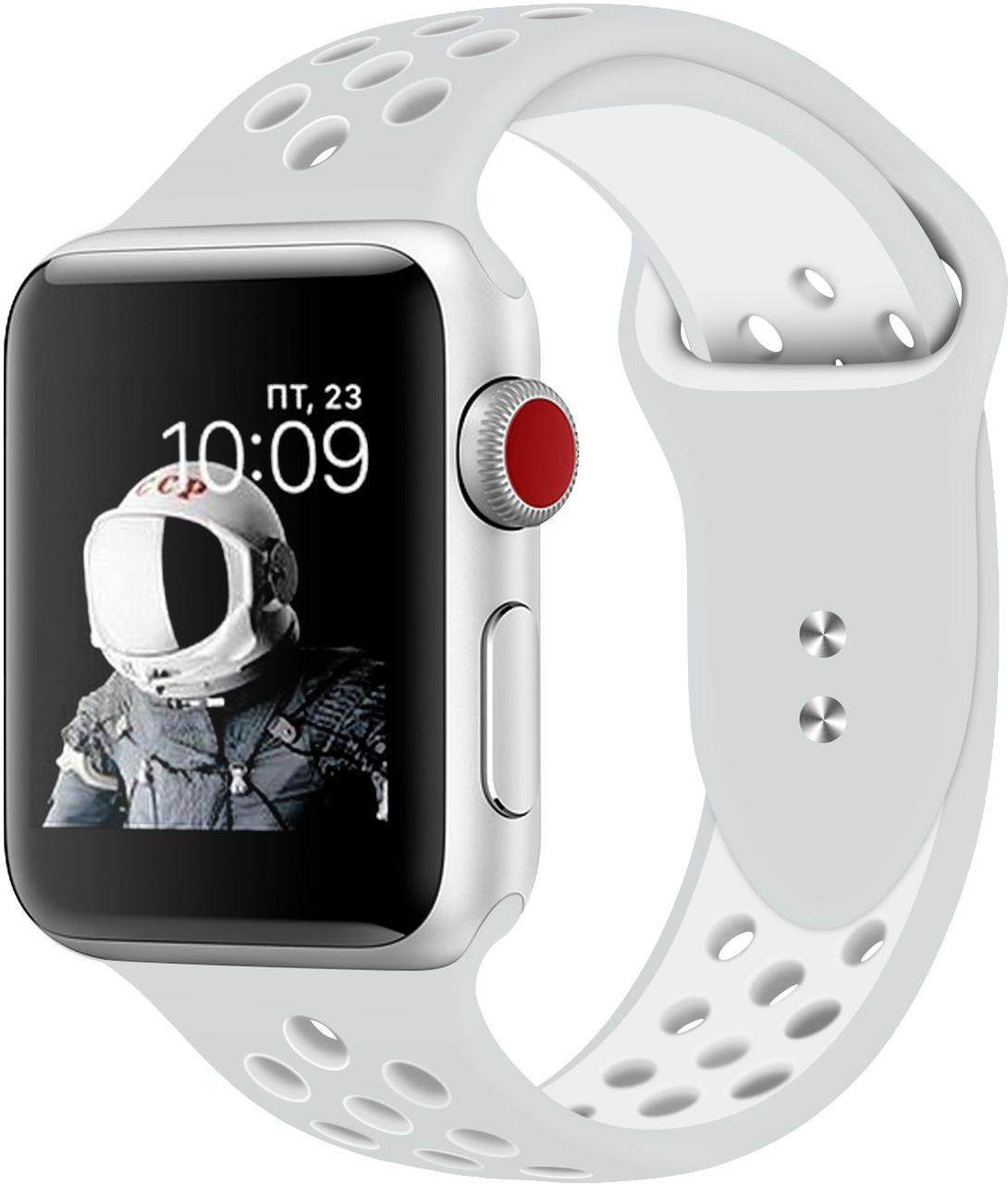 Силиконовый ремешок Promate Oreo-38ML для Apple Watch 38-40 мм Grey/White