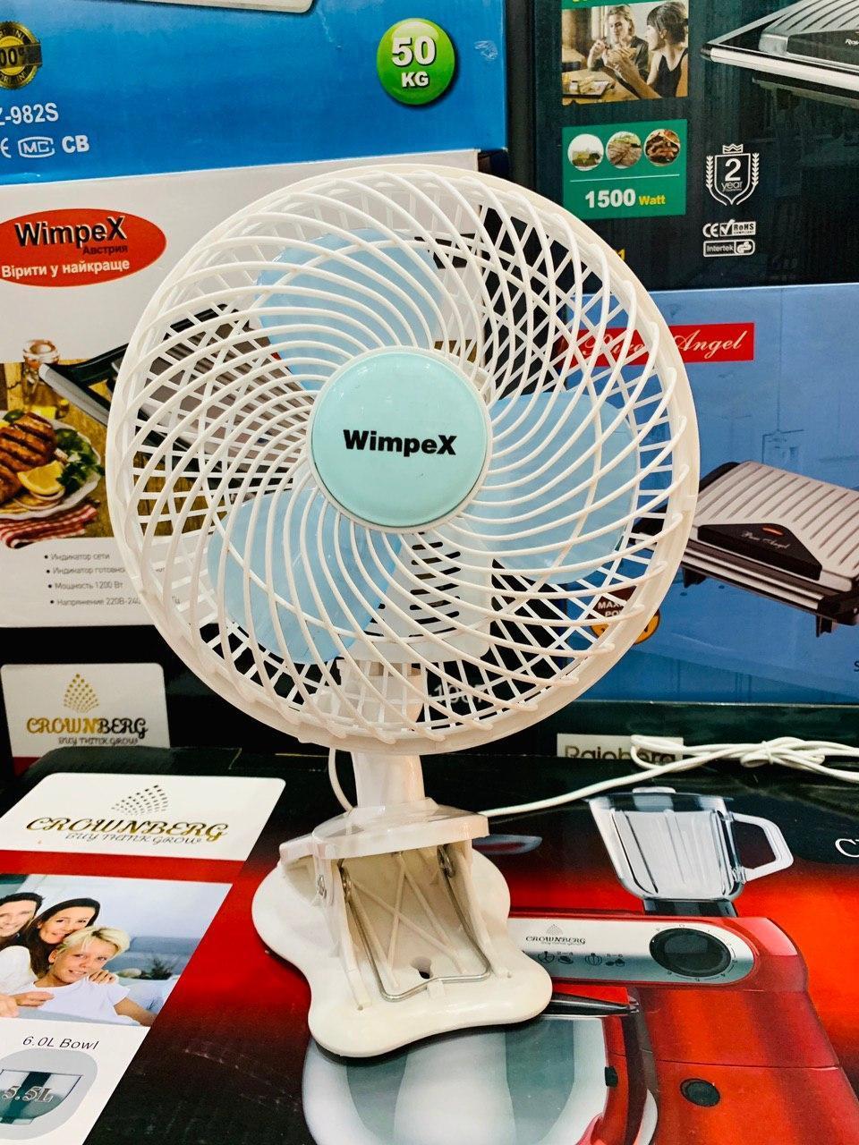 Вентилятор Wimpex Wx-707 2 В 1 Настольный Вентилятор На Прищепке