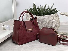 Набор сумка и клатч С73837 цвет бордо