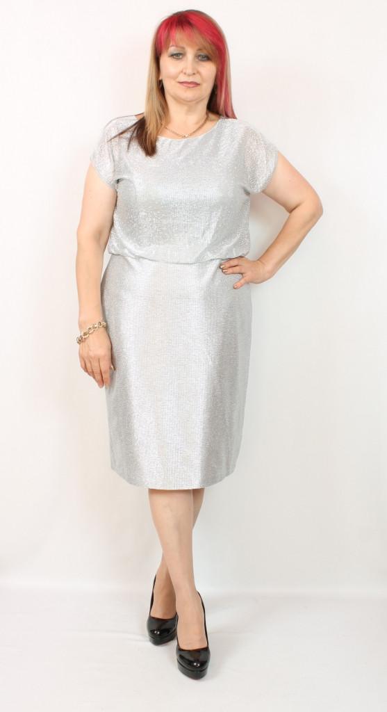 Турецкое блестящее женское платье больших размеров 50-56