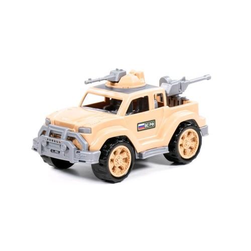 Автомобиль-пикап военный-сафари Легионер мини с 2-мя пулеметами (в сеточке) ТМ POLESIE