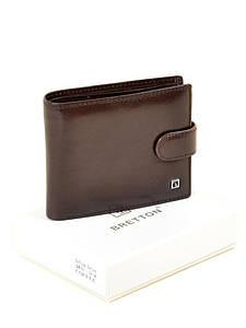 Коричневый кожаный мужской кошелек портмоне Bretton MS-24 coffee