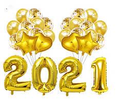 Набор шаров на Новый Год 055