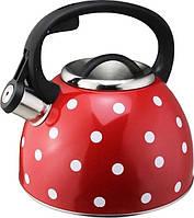 Чайник Vincent Vc-3587Mix Со Свистком 2,5 Л Красный