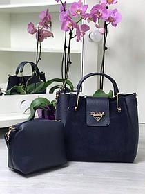 Набор сумка и клатч С73837 цвет синий