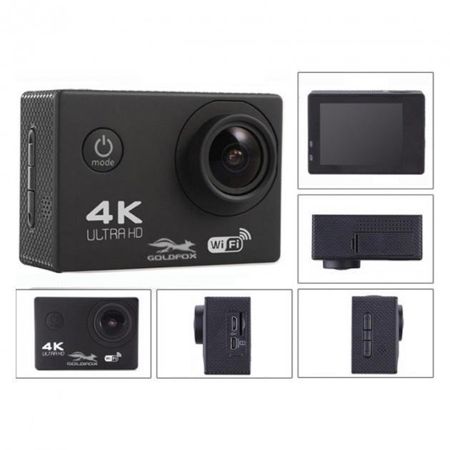 Экшн Камера F60R - Full Hd 4K Wi-Fi С Пультом Ду Black