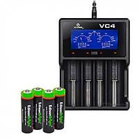 Профессиональное Зарядное Устройство Xtar Vc4 Для 4-Х Аккумуляторов На 4 Секции