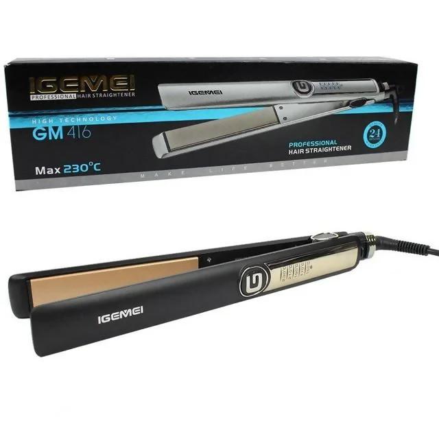 Выпрямитель Для Волос Pro Gemei Gm-416 Черный Утюжок Для Волос Щипцы