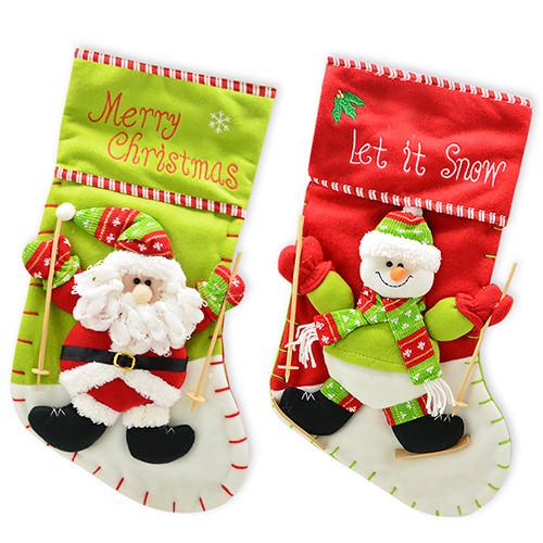 Новогодний сапог носок для подарков 20*40см