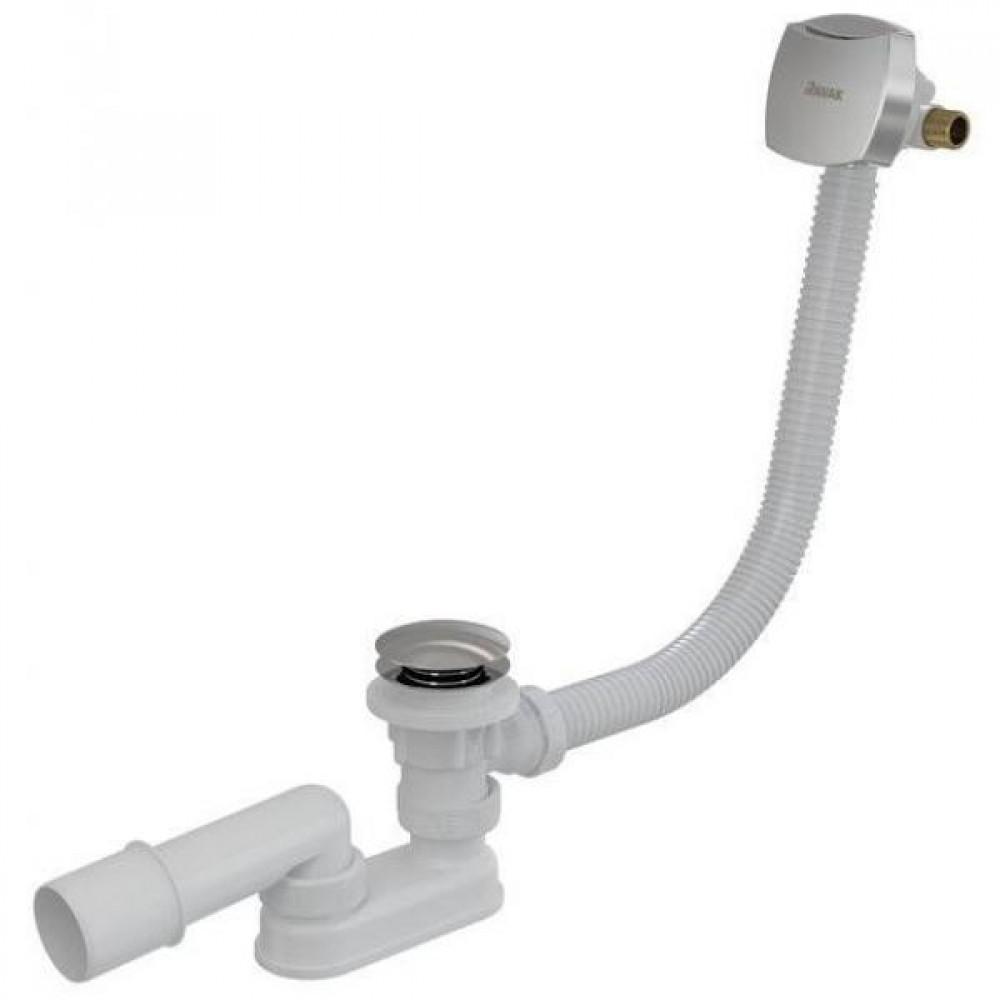 Сточный комплект для ванны с наполнением переливом Ravak 800 ClickClack Chrom