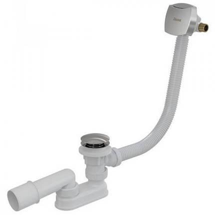 Стічний комплект для ванни з наповненням переливом Ravak 800 ClickClack Chrom, фото 2