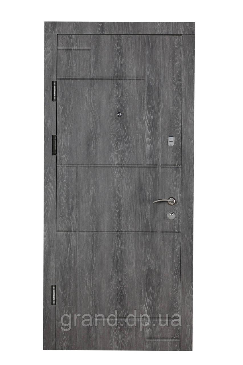 Двері вхідні металеві Булат Економ 850*2050 166 Дуб шале графіт