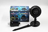 Новогодний лазерный проектор снежинки RGB уличный Черный 602, фото 3