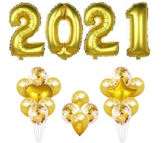 Набор шаров на Новый Год 062