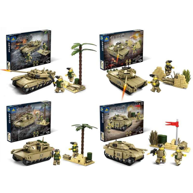 Конструктор Kazi 84044 Танк M1A2 Военная Машина 325 Деталей