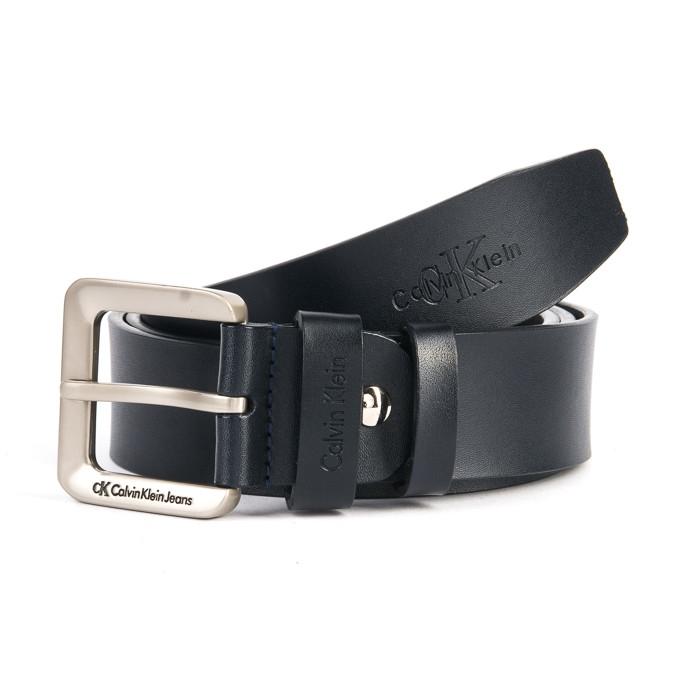 Кожаный мужской ремень с классической пряжкой 02929 black