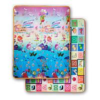 Розвиваючий двухстронний дитячий ігровий термо килимок для повзання 2000*1800*5, фото 1