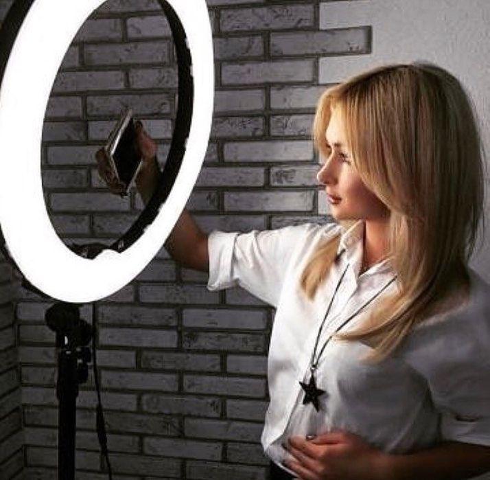 Кольцевая лампа для селфи BeautyStar 26 см RGB с пультом