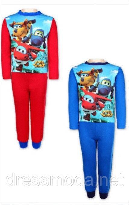 Пижама трикотажная для мальчиков Superwings 3-8 лет