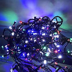 """Внутренняя гирлянда """"РУБИНКА"""" 13 метров 200 LED (Черный провод)"""