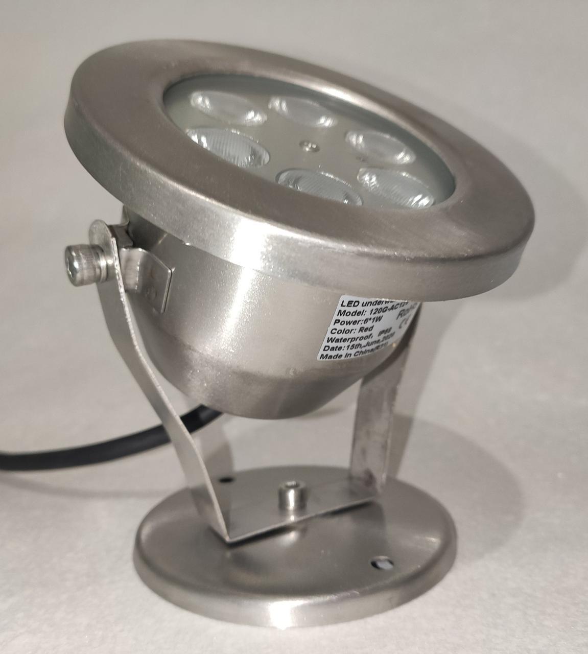 Подводный светильник 6W зеленый IP68 светодиодный Premium  Ecolend