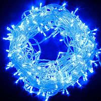 Новогодняя cветодиодная гирлянда нить LED 800 лампочек (50м): синий цвет, фото 1