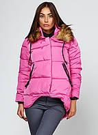 Модная куртка женская розового цвета утепленная синтепоном. Наличие размеров смотрите в описании.